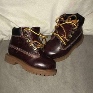 Timberland toddler size 4 brown leather boots